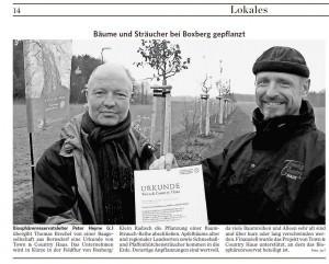 Aus: Lausitzer Rundschau, 26. November 2014